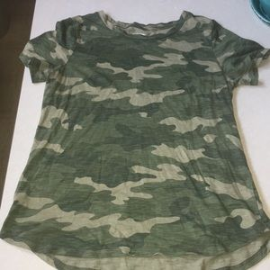 Camouflage short sleeve shirt for women